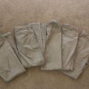 Lot of Boys 14 Slim Old Navy khaki uniform pants